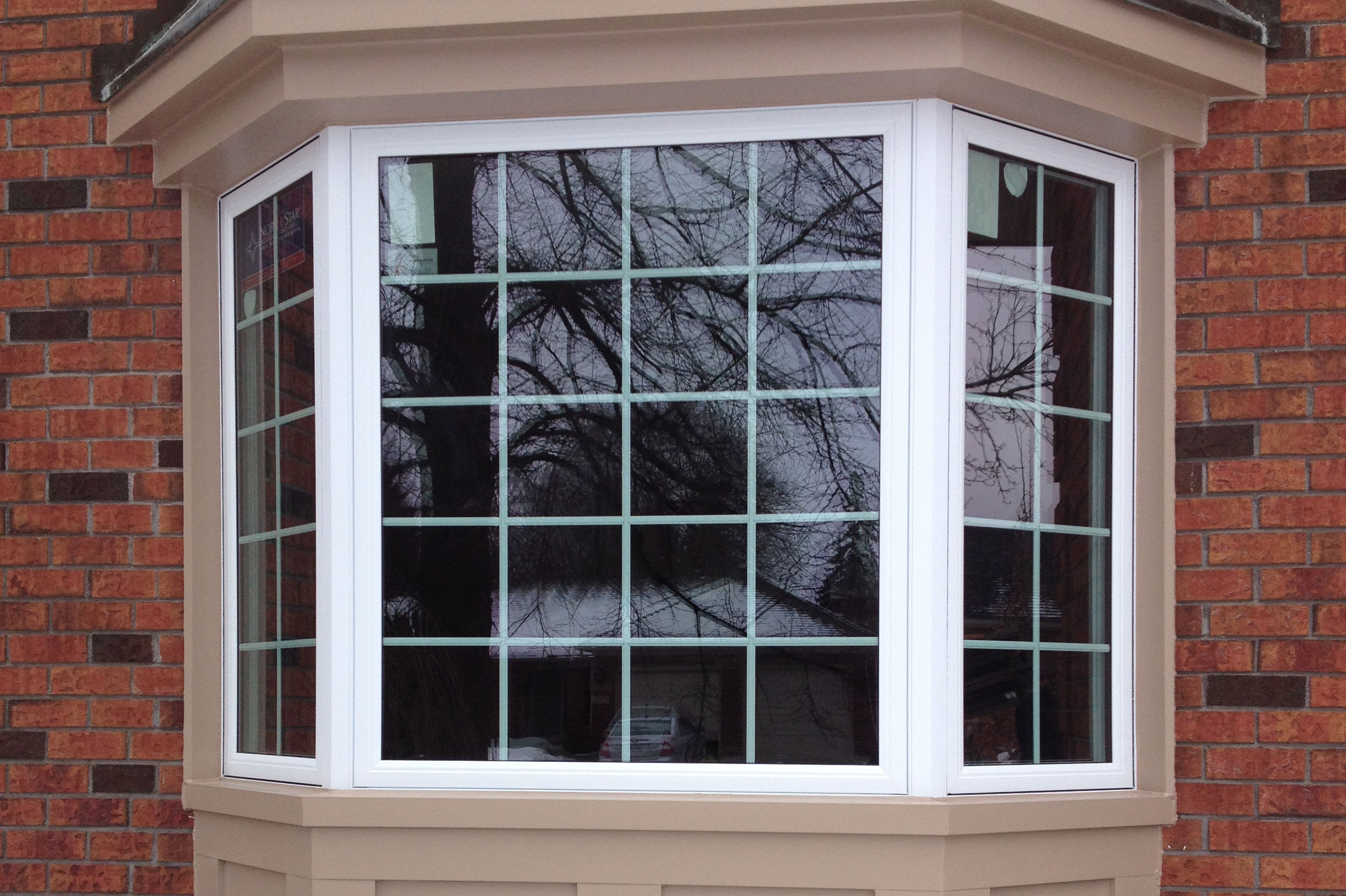 3 Lite Bay Window With Grids